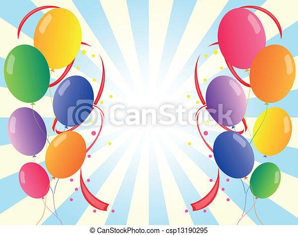 δώδεκα , μπαλόνι , γραφικός , πάρτυ  - csp13190295