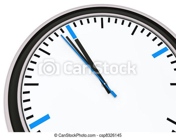 δώδεκα , ρολόι , λεπτό , εις  - csp8326145