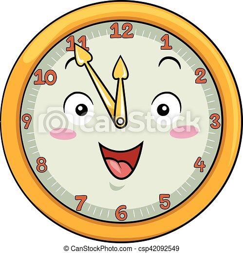 δώδεκα , ρολόι , μετά , πενήντα , πέντε , γουρλίτικο ζώο  - csp42092549