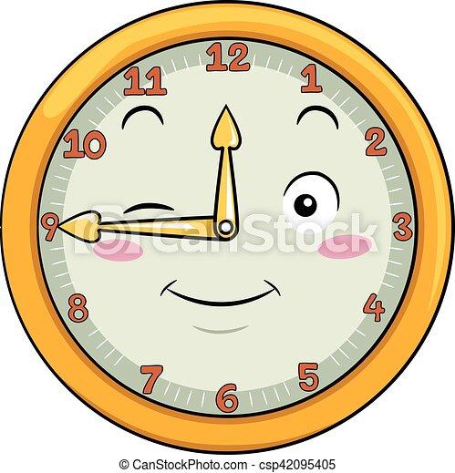δώδεκα , ρολόι , μετά , σαράντα , πέντε , γουρλίτικο ζώο  - csp42095405