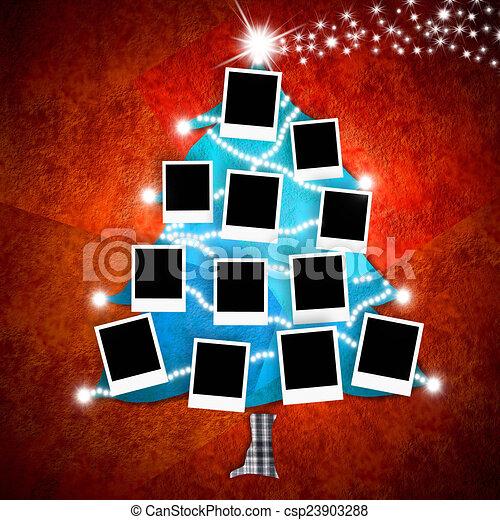 δώδεκα , φωτογραφία , καρτέλλες , αποτελώ το πλαίσιο , xριστούγεννα , αδειάζω  - csp23903288