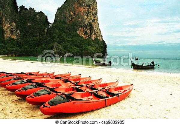 είδος ξύλινης βάρκας  - csp9833985