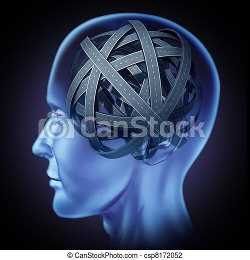 εγκέφαλοs , σύγχυσα , ανθρώπινος , αίνιγμα  - csp8172052