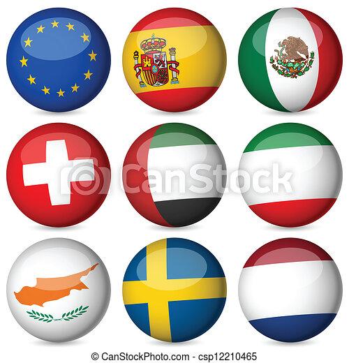 εθνικός , θέτω , μπάλα , σημαία  - csp12210465