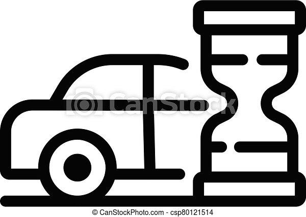 εικόνα , περίγραμμα , ώρα , κλεψύδρα , ρυθμός , ταξί , αναμονή  - csp80121514