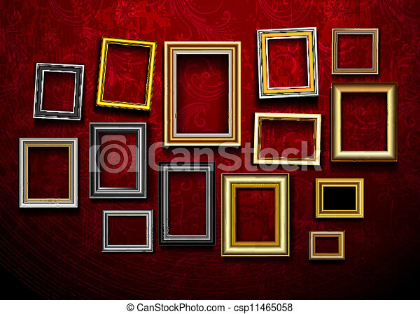 εικόνα , τέχνη , φωτογραφία αποτελώ το πλαίσιο , vector., gallery.picture, ph  - csp11465058