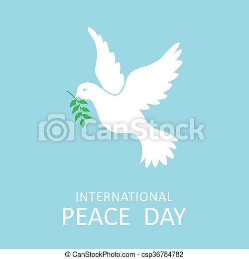 ειρήνη , παράρτημα , ελιά , διεθνής , περιστέρα , ημέρα  - csp36784782