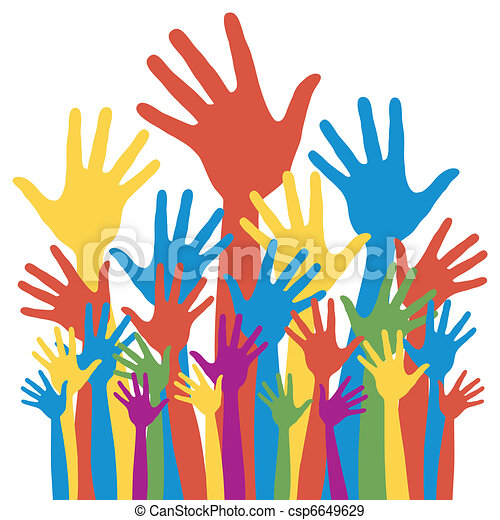 εκλογή , γενικός , ψηφοφορία , hands. - csp6649629