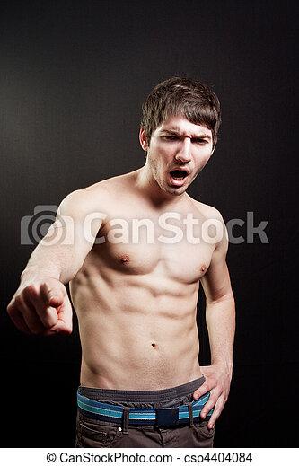 ελκυστικός προς το αντίθετον φύλον , ξεφωνίζω , μυώδης , άντραs  - csp4404084