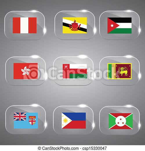εξοχή , θέτω , σημαίες , γυαλί  - csp15330047