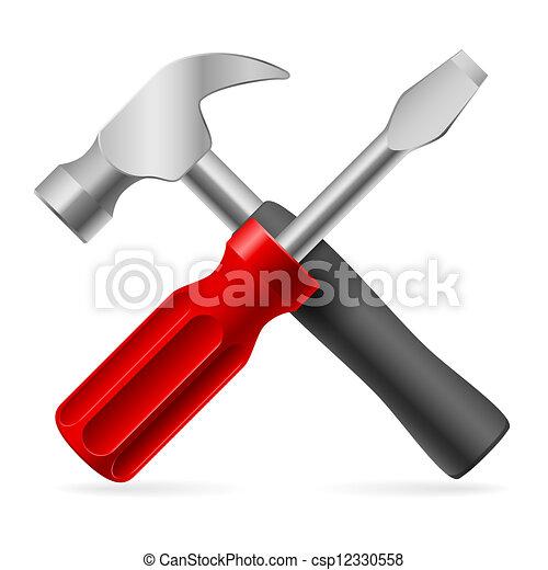 επισκευάζω , εργαλεία  - csp12330558