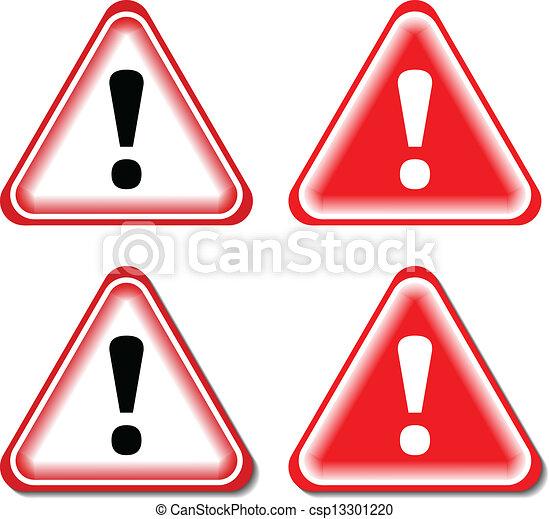 επιφώνημα , απειλή αναχωρώ , απομονωμένος , εικόνα , μικροβιοφορέας , signs., κόκκινο  - csp13301220