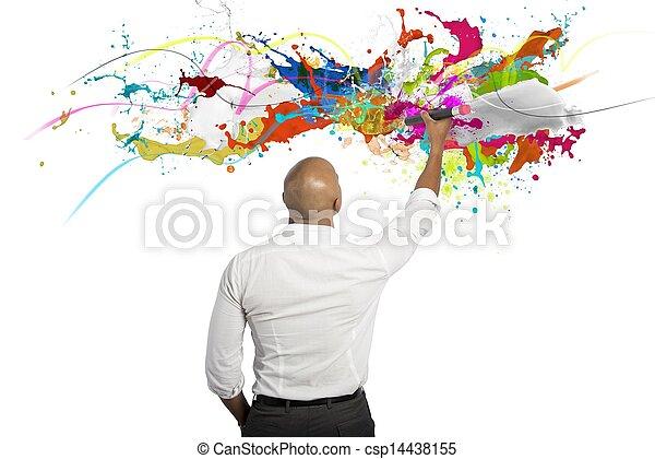 επιχείρηση , δημιουργικός  - csp14438155