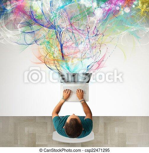 επιχείρηση , δημιουργικός  - csp22471295