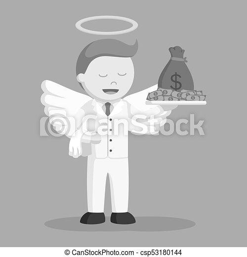 επιχειρηματίας , άγγελος , χρήματα  - csp53180144