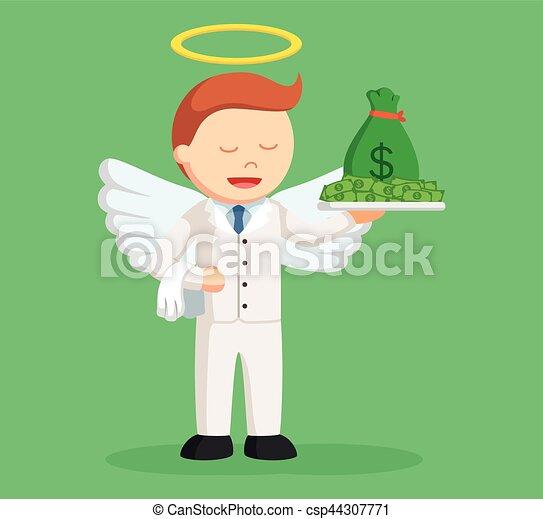 επιχειρηματίας , άγγελος , χρήματα  - csp44307771