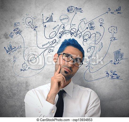επιχειρηματίας , δημιουργικός  - csp13934853