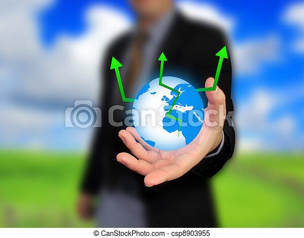 επιχειρηματίας , κράτημα , κόσμοs  - csp8903955