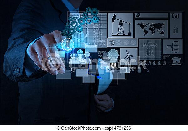 επιχειρηματίας , μοντέρνος τεχνική ορολογία , εργαζόμενος , μηχανικόs  - csp14731256