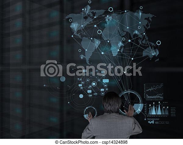 επιχειρηματίας , μοντέρνος τεχνική ορολογία , εργαζόμενος  - csp14324898
