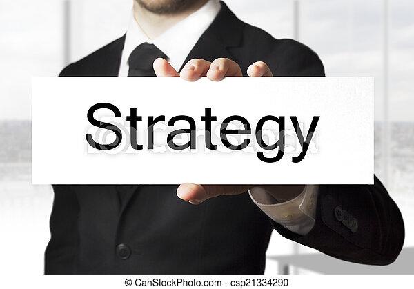 επιχειρηματίας , σήμα , κράτημα , στρατηγική  - csp21334290