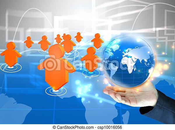 επιχειρηματίας , .technology, γενική ιδέα , κράτημα , κόσμοs  - csp10016056