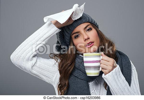 εποχή , κρύο , γρίπη  - csp16203986