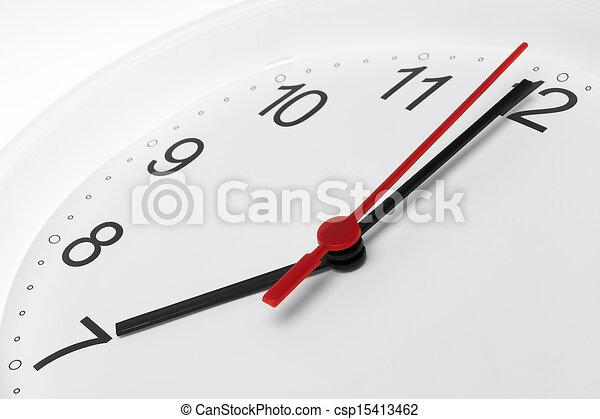 επτά , διακοσμητικό στοιχείο καλτσών αντικρύζω , τρέξιμο , φόντο , ώρα , άσπρο  - csp15413462