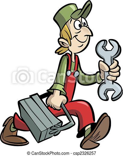 εργάτης κατάλληλος για διάφορες εργασίες  - csp2326257
