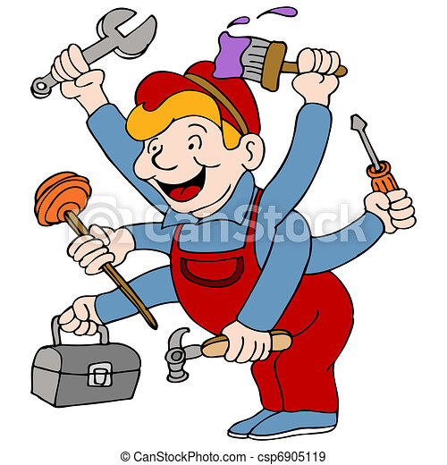 εργάτης κατάλληλος για διάφορες εργασίες  - csp6905119