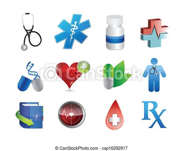 εργαλεία , ιατρικός , σχεδιάζω , εικόνα , απεικόνιση  - csp16292917