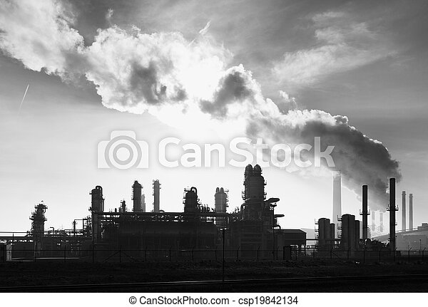 εργοστάσιο , χημικά πετρελαίου  - csp19842134