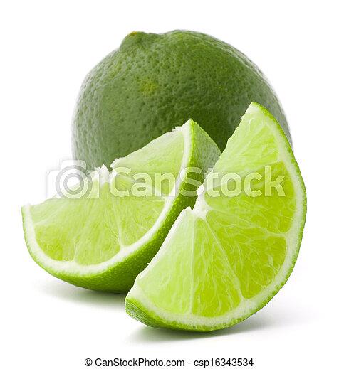 εσπεριδοειδές , απομονωμένος , φρούτο , φόντο , άσπρο , cutout , ασβέστηs  - csp16343534