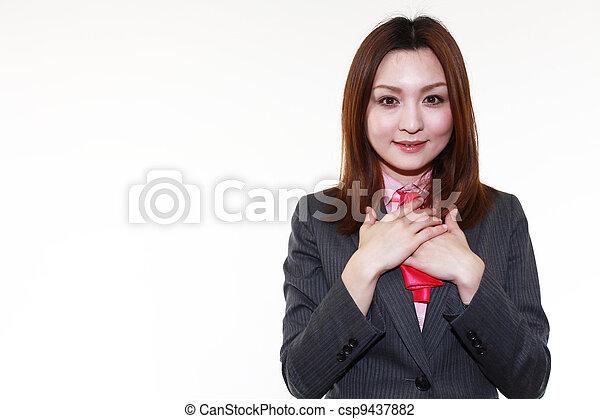 ευθυμία γυναίκα , επιχείρηση  - csp9437882
