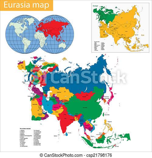 ευρασία , χάρτηs  - csp21798176