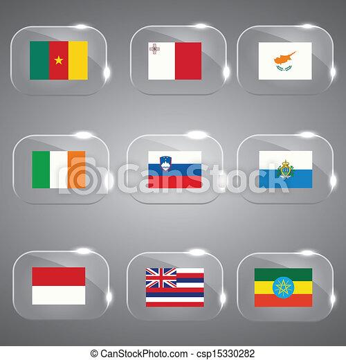 ευρώπη , κόσμοs , σημαίες  - csp15330282