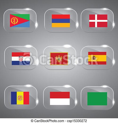 ευρώπη , κόσμοs , σημαίες  - csp15330272