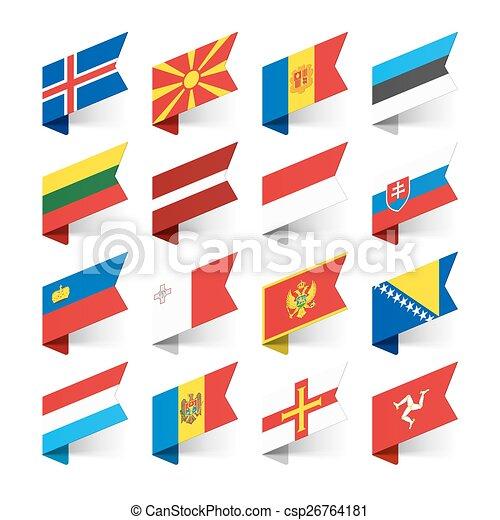 ευρώπη , σημαίες , κόσμοs  - csp26764181