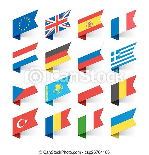 ευρώπη , σημαίες , κόσμοs  - csp26764166