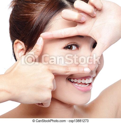 ζεσεεδ , γυναίκα άποψη , προσοχή  - csp13881273