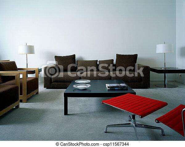ζούμε , διαμέρισμα , μοντέρνος δωμάτιο  - csp11567344