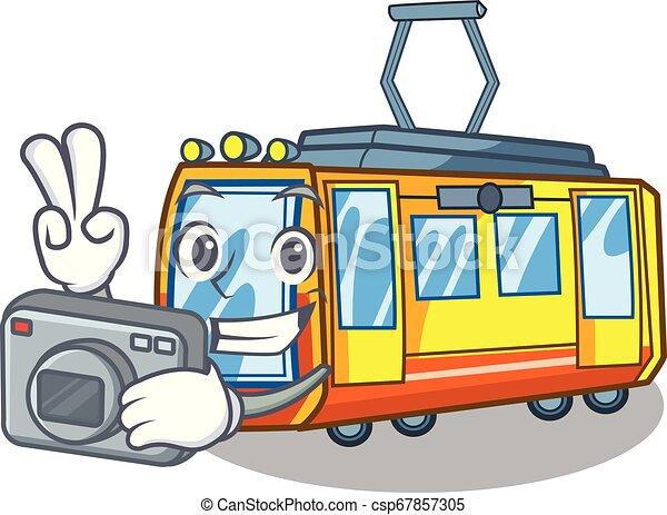 ηλεκτρικός , φωτογράφος , σχήμα , τρένο , άθυρμα , γουρλίτικο ζώο  - csp67857305