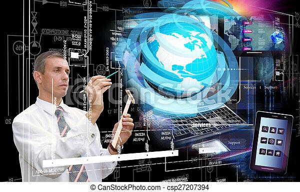 ηλεκτρονικός εγκέφαλος τεχνική ορολογία  - csp27207394