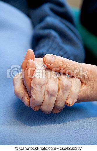 ηλικιωμένος ανατροφή  - csp4262337