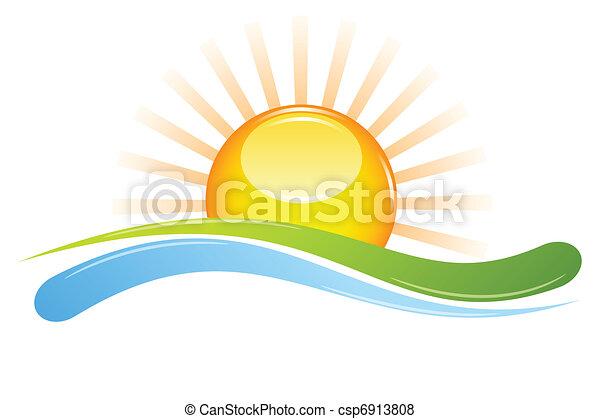 ηλιοβασίλεμα  - csp6913808