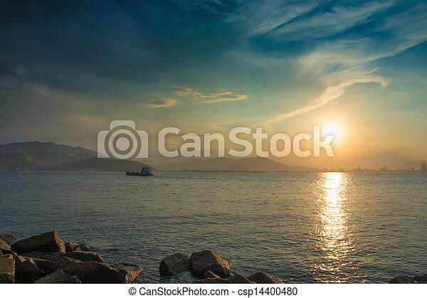 ηλιοβασίλεμα , γραφικός  - csp14400480