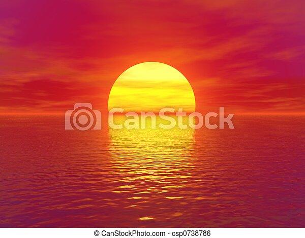 ηλιοβασίλεμα  - csp0738786