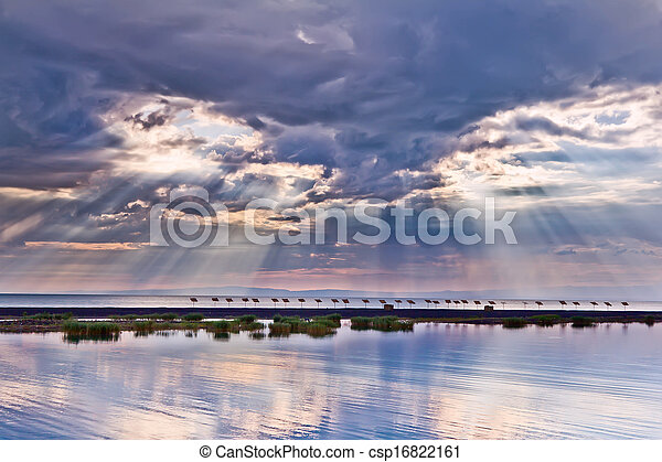 ηλιοβασίλεμα , θάλασσα , cloudscape  - csp16822161