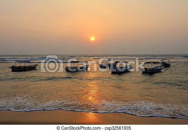 ηλιοβασίλεμα , τροπικός  - csp32561935