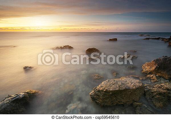 ηλιοβασίλεμα , sea. - csp59545610